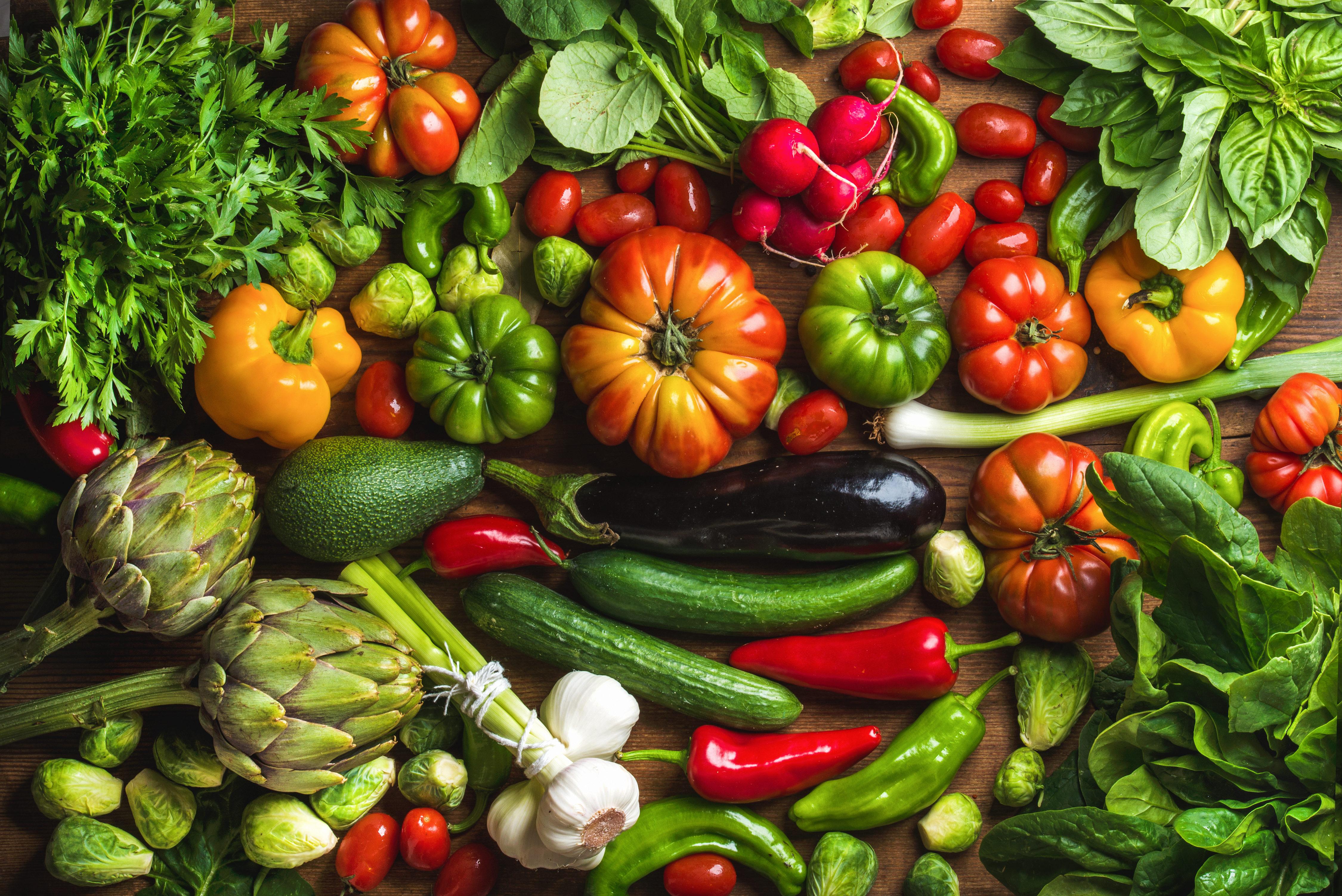 Днем рождения, овощная открытка